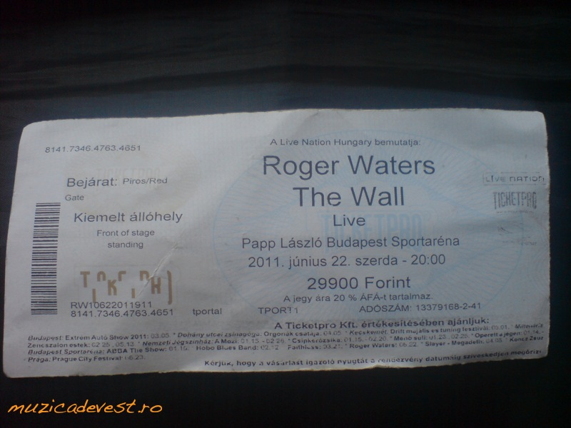 Roger Waters Ticket - The Wall World Tour